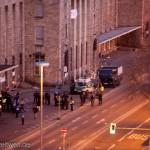 Techniktrupp der Polizei bei der Räumung