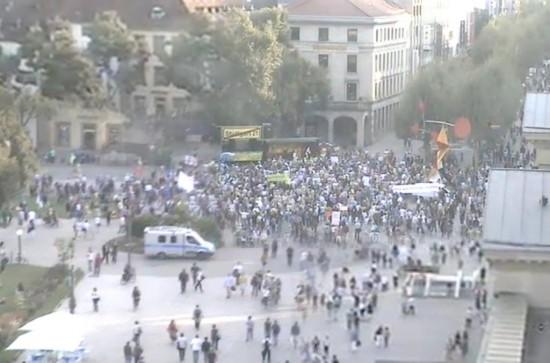 Schloßplatzwebcam - 08.09.14 / 18:05