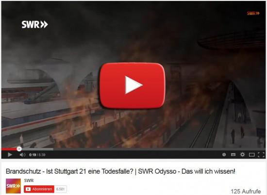 Brandschutz - Ist Stuttgart 21 eine Todesfalle? - Quelle Youtube