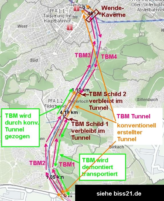 Tülay-Tunnel - Schematische Darstellung