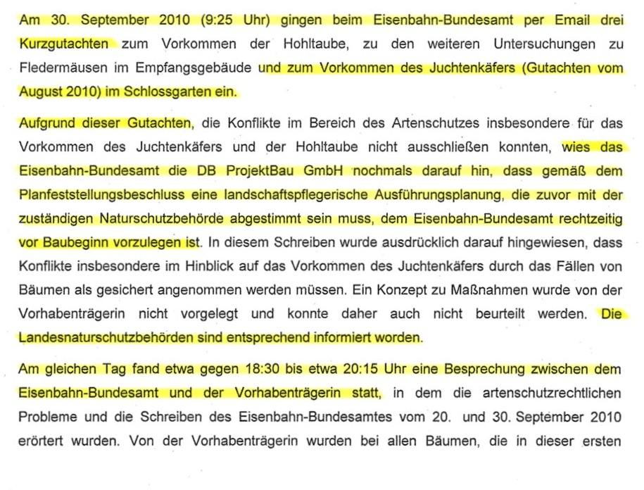 Der 30.9.2010 auf den Seiten 3 und 4 des Beschlusses zum Fällverbot