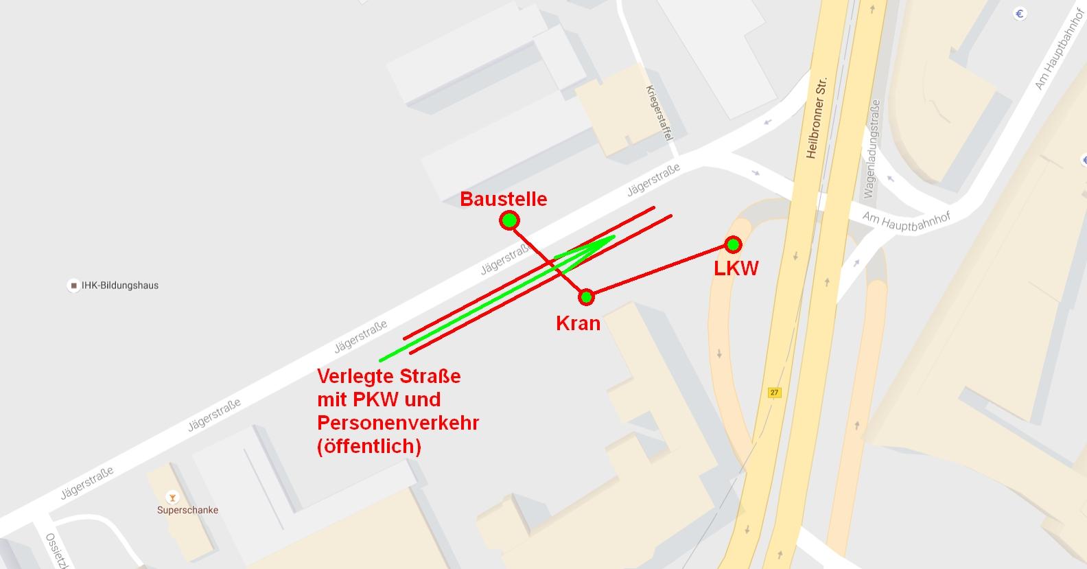 Selbst ein Sprecher der Bahn es mit dieser (unverzerrten) Karte eigentlich verstehen können.